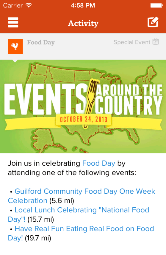 Food Day Events
